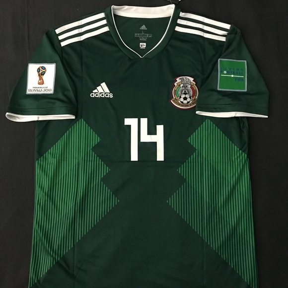 0ef8fb033 Mexico Soccer Jersey 2018 Chicharito  14 Mexican